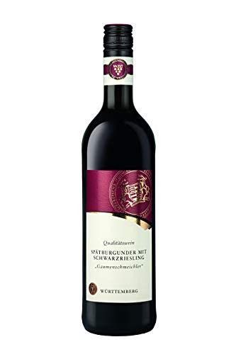 Württemberger Wein Gaumenschmeichler Spätburgunder mit Schwarzriesling QW halbtrocken (1 x 0.75 l)