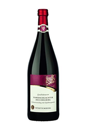 Württemberger Wein Haberschlachter Heuchelberg Schwarzriesling mit Spätburgunder QW halbtrocken (1 x 1,0l)