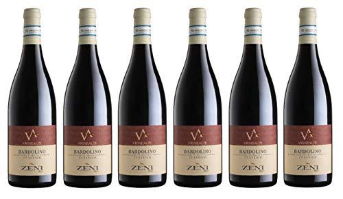 6x0,75l - 2019er - Zeni - Vigne Alte - Bardolino Classico D.O.C. - Veneto - Italien - Rotwein trocken