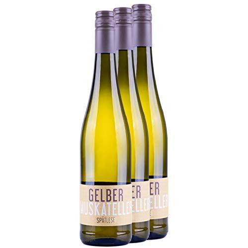 """Nehrbaß - """"Gelber Muskateller 2020"""" - Weißwein lieblich 3 x á 0,75 Liter - Spätlese - Vegan - Aus Deutschland (Rheinhessen) - mit Schraubverschluss - Gewinner der goldenen Kammerpreismünze"""