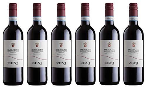 6x0,75l - 2019er - Zeni - Bardolino Classico D.O.C. - Veneto - Italien - Rotwein trocken