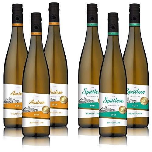 5,77€/l Wein-Genuss Süßweine aus Rheinhessen, Auswahl an Spätlese und Auslese Weinen